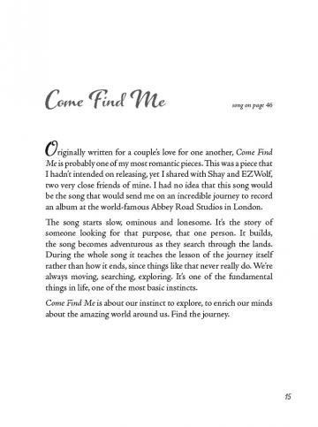 "The story behind the song, ""Come Find Me"""