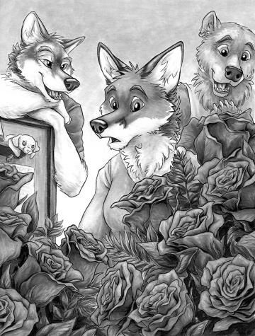 """Roses"" interior illustration for ""Ty Game"" by The Neverwolf"