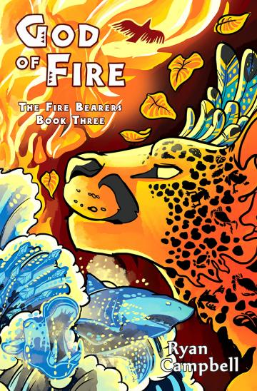 God of Fire front cover art by Zhivago